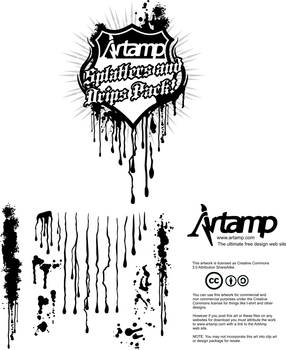 Free vector splats and drips