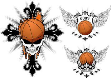 Baskeball Skull Design by artamp