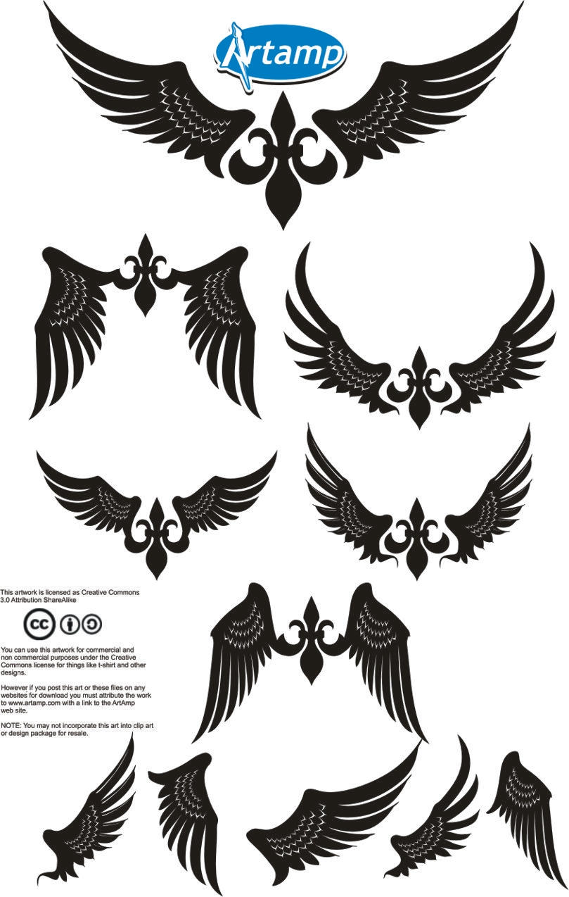 Simple Wings Vector Pack by artamp