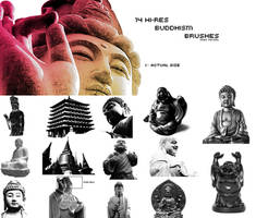 14 Hi-Res Buddhism Brushes 1 by onyx