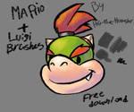 Mario and Luigi Photoshop brush set