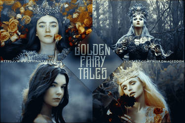 GOLDEN FAIRYTALES | PSD COLORING #4 by weirdmagedd0n