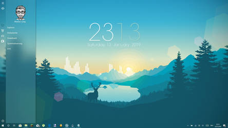 Modern Clean Desktop [1.4]  [Rainmeter skin] by LangMarkus