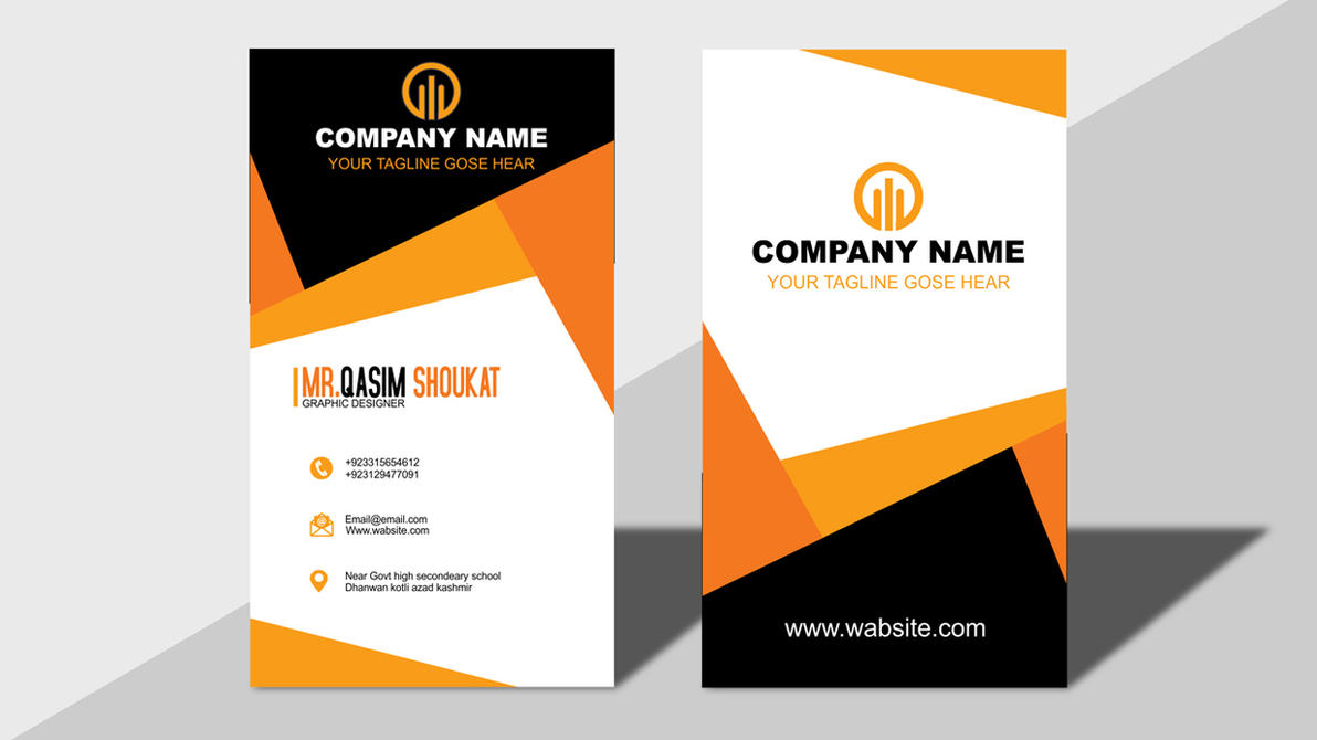 Business Card Design Templates By MrQasimShoukat