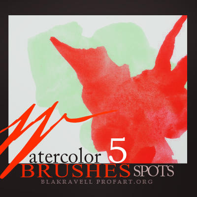 Watercolor brushes Set 2 by Blakravell