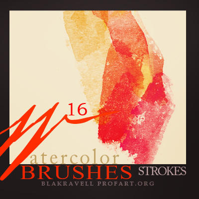 Watercolor brushes Set 3 by Blakravell