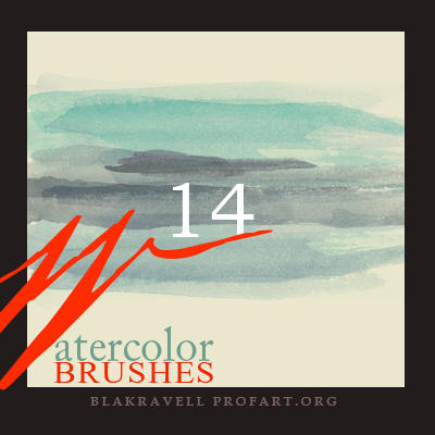 Watercolor brushes Set 5 by Blakravell