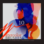 Watercolor brushes Set 8