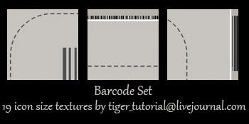 Barcode Set by Martini-Tiger-Bianco
