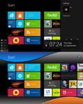 WDP Metro Start Black UI by cooldeepthx