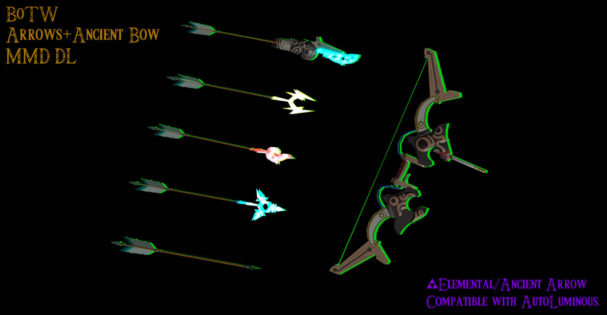MMD - Ancient Bow + Arrows (BoTW) [+Dl]| by Hylian-Ale on DeviantArt