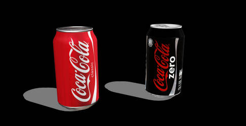 MMD - Coca Cola Cans ''Normal'' and ''ZERO'' [+Dl]