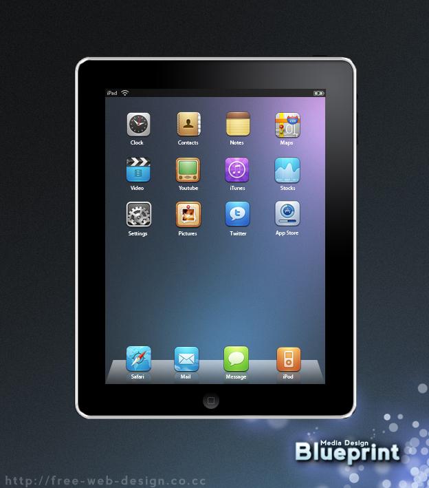 iPad Icon PSD