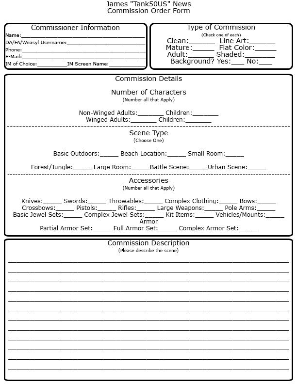 Commission Order Form by Tank50us on DeviantArt