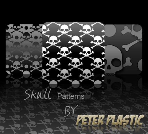 Seamless Skull Patterns by PeterPlastic
