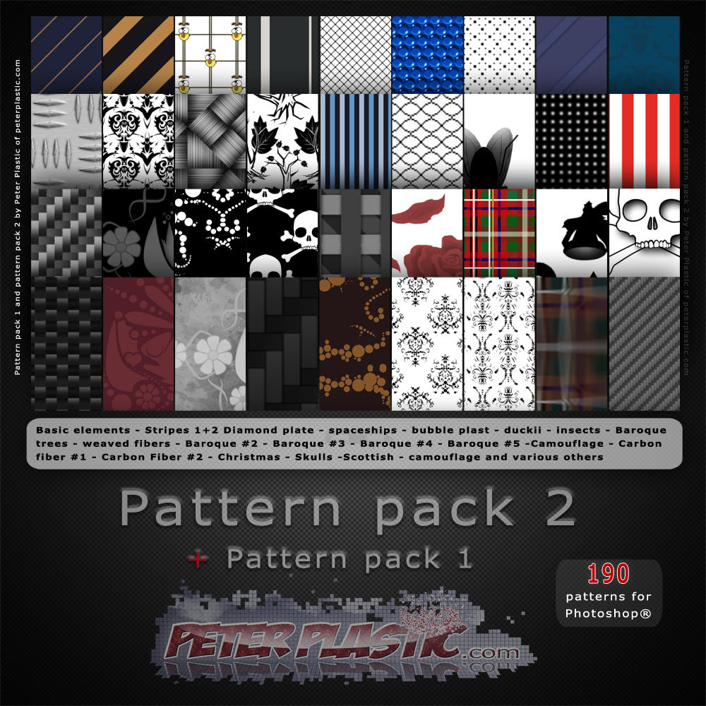 Pattern pack 2 by PeterPlastic
