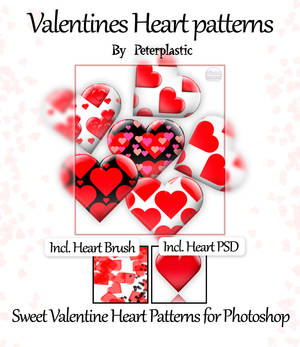 Valentine's Day seamless patterns