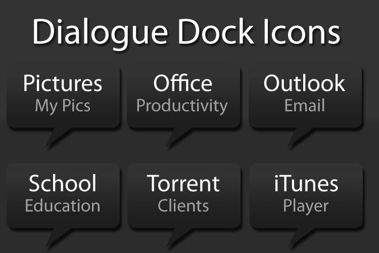 Dialogue Text Dock Icons by Prodigee92