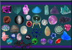 Gems Crystals n Stones PSD Pk by ravenarcana