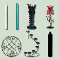Candles and Holders psd Pack by ravenarcana