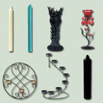 Candles and Holders psd Pack