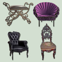 Chairs Pack psd by ravenarcana