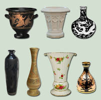 Vases and Urns Pack psd by ravenarcana