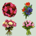 Bouquets Pack psd