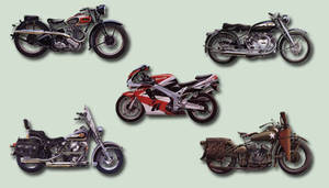 Motorcycles psd Pack