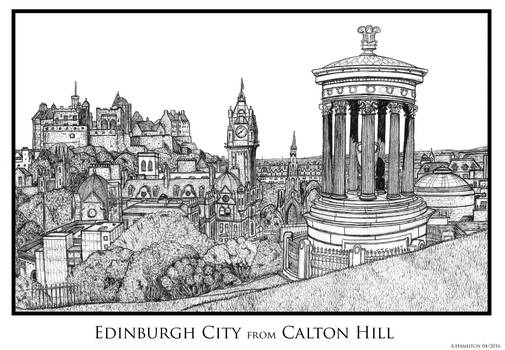Edinburgh City from Calton Hill (HiRes)