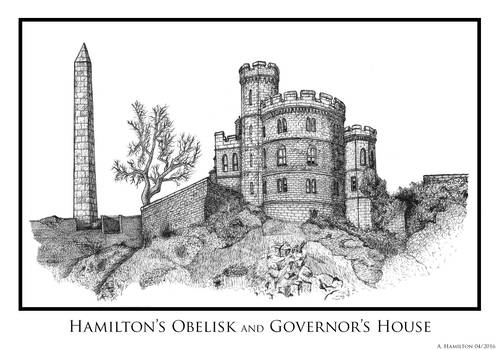 Hamilton Obelisk and Governor's House (HiRes)