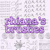 rhiana's brushes. by withmycamera