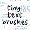 tiny text brushes by withmycamera
