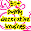 20 swirly brushes by withmycamera