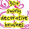 20 swirly brushes by withmycamera
