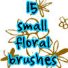 floral brushes by withmycamera