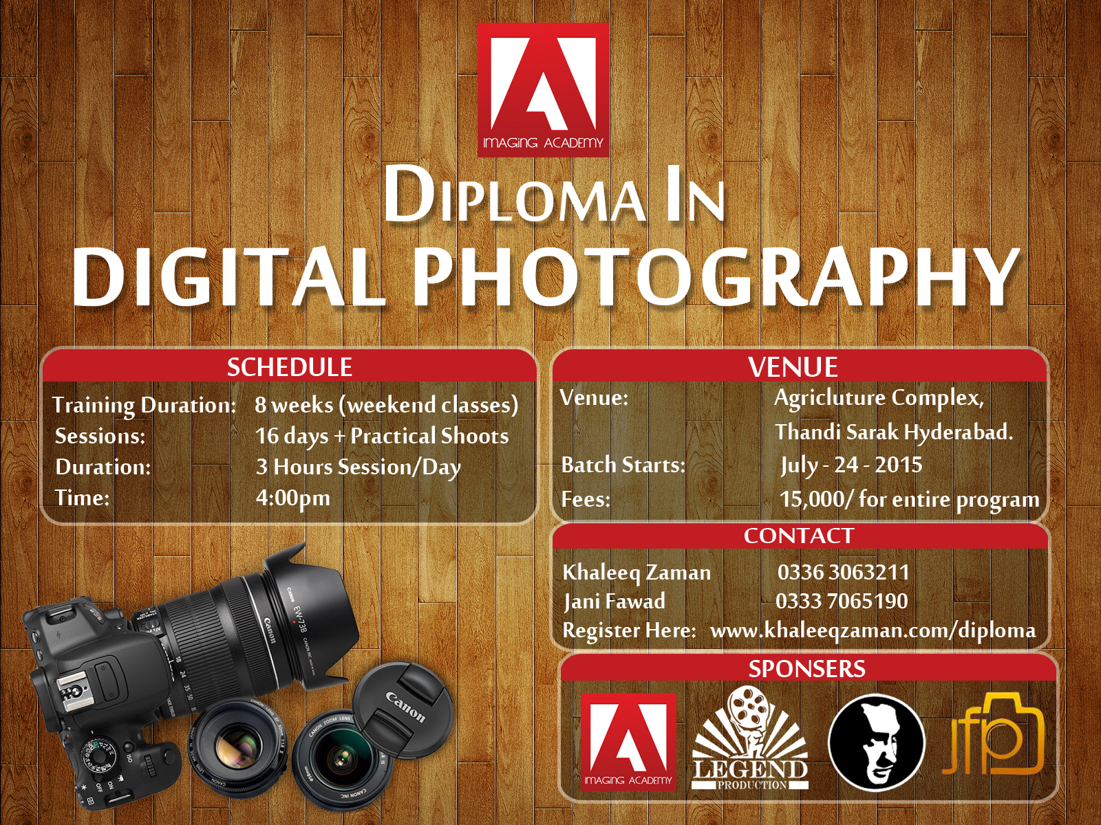Photography Workshop Poster Design PSD By KhaleeqXaman