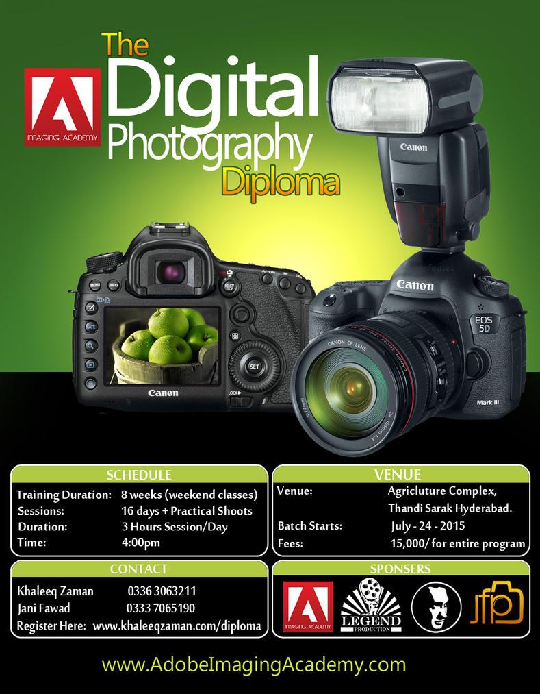 Digital Photography Workshop Poster Design PSD by ...