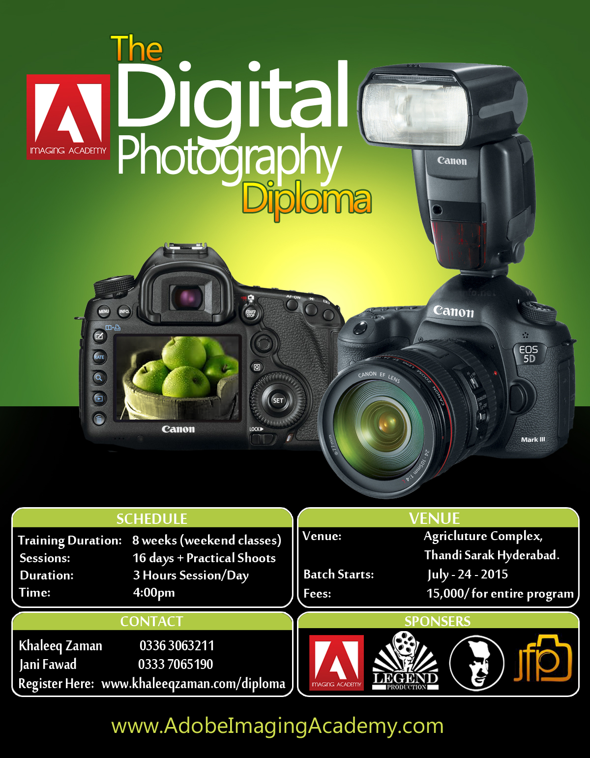Digital Photography Workshop Poster Design PSD By KhaleeqXaman