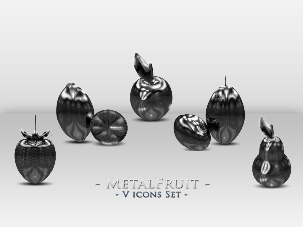 Metal Fruit icons set by KamilSitek