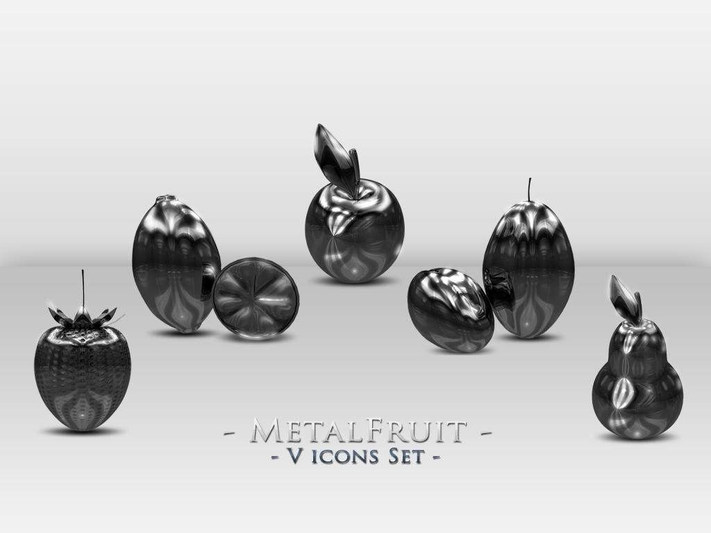 Metal Fruit icons set by KamilSitek