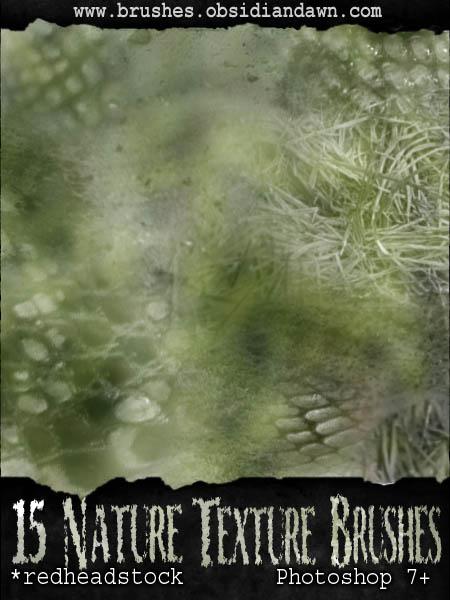 Nature Textures GIMP Brushes