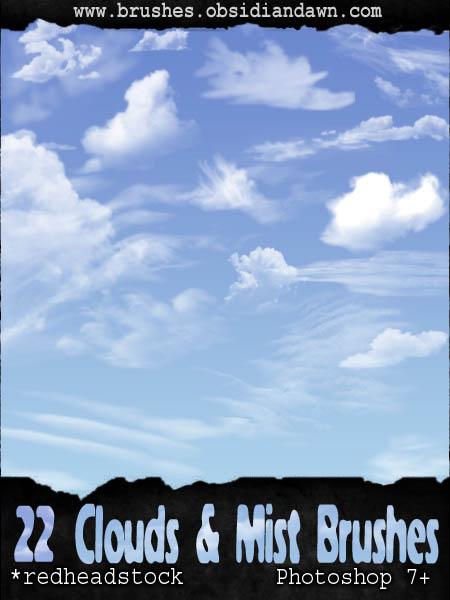 GIMP Cloud Brushes