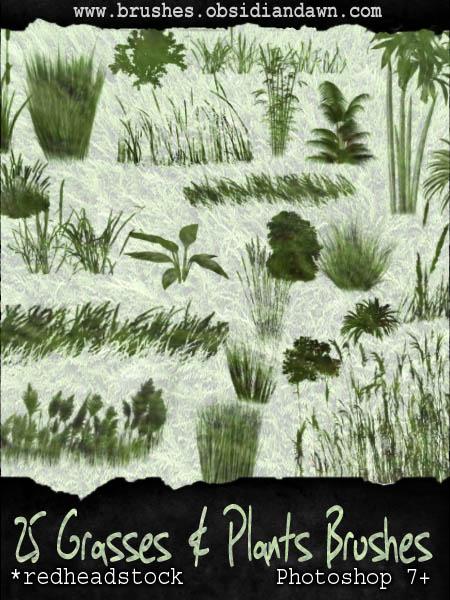 Grasses N Plants GIMP Brushes