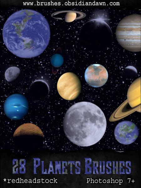 GIMP Planets Brushes