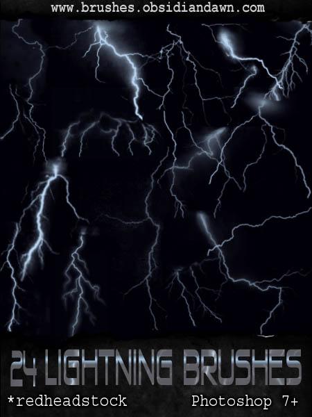 GIMP Lightning Brushes