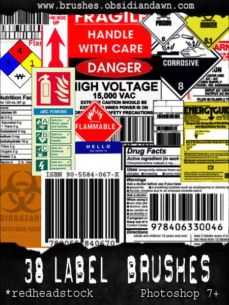 GIMP Labels Brushes