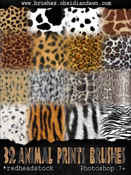 GIMP Animal Prints Brushes