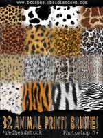 GIMP Animal Prints Brushes by Project-GimpBC