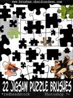 GIMP Puzzle Pieces Brushes by Project-GimpBC